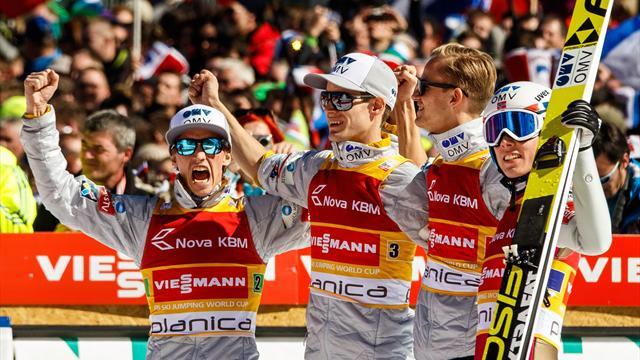 Noruega gana la prueba por equipos de Planica