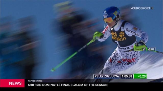 Shiffrin domina l'ultimo slalom della stagione