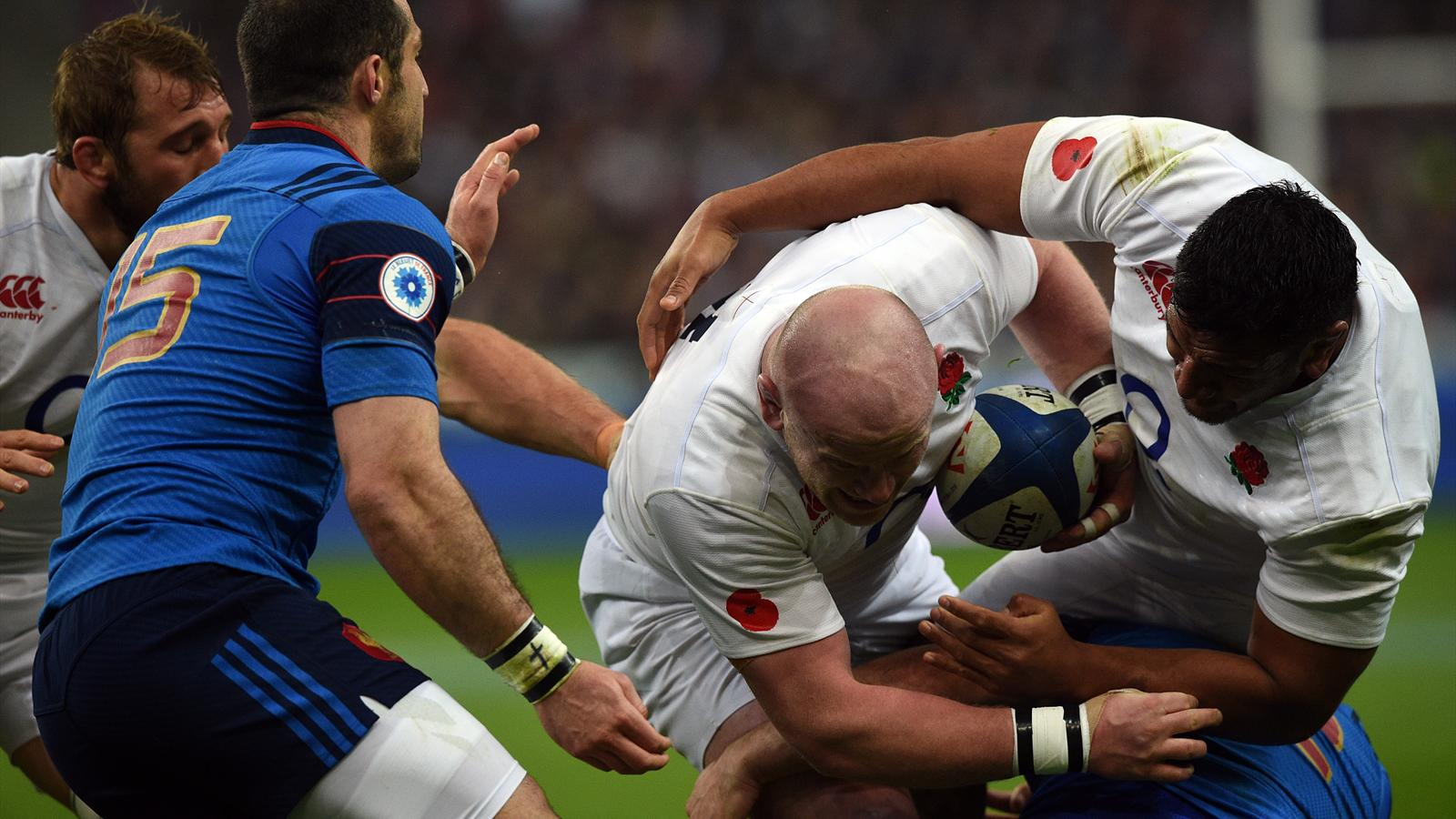 Dan Cole (Angleterre) face à la France - 19 mars 2016