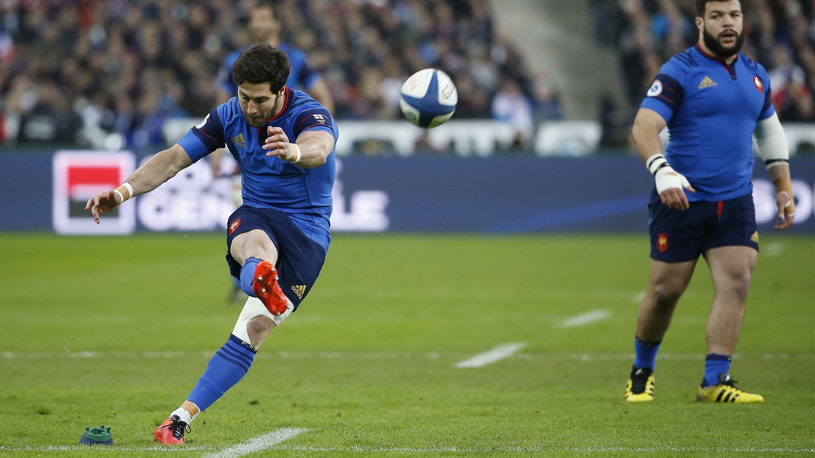 Maxime Machenaud (XV de France) a réalisé un sans-faute au pied contre l'Angleterre - 19 mars 2016