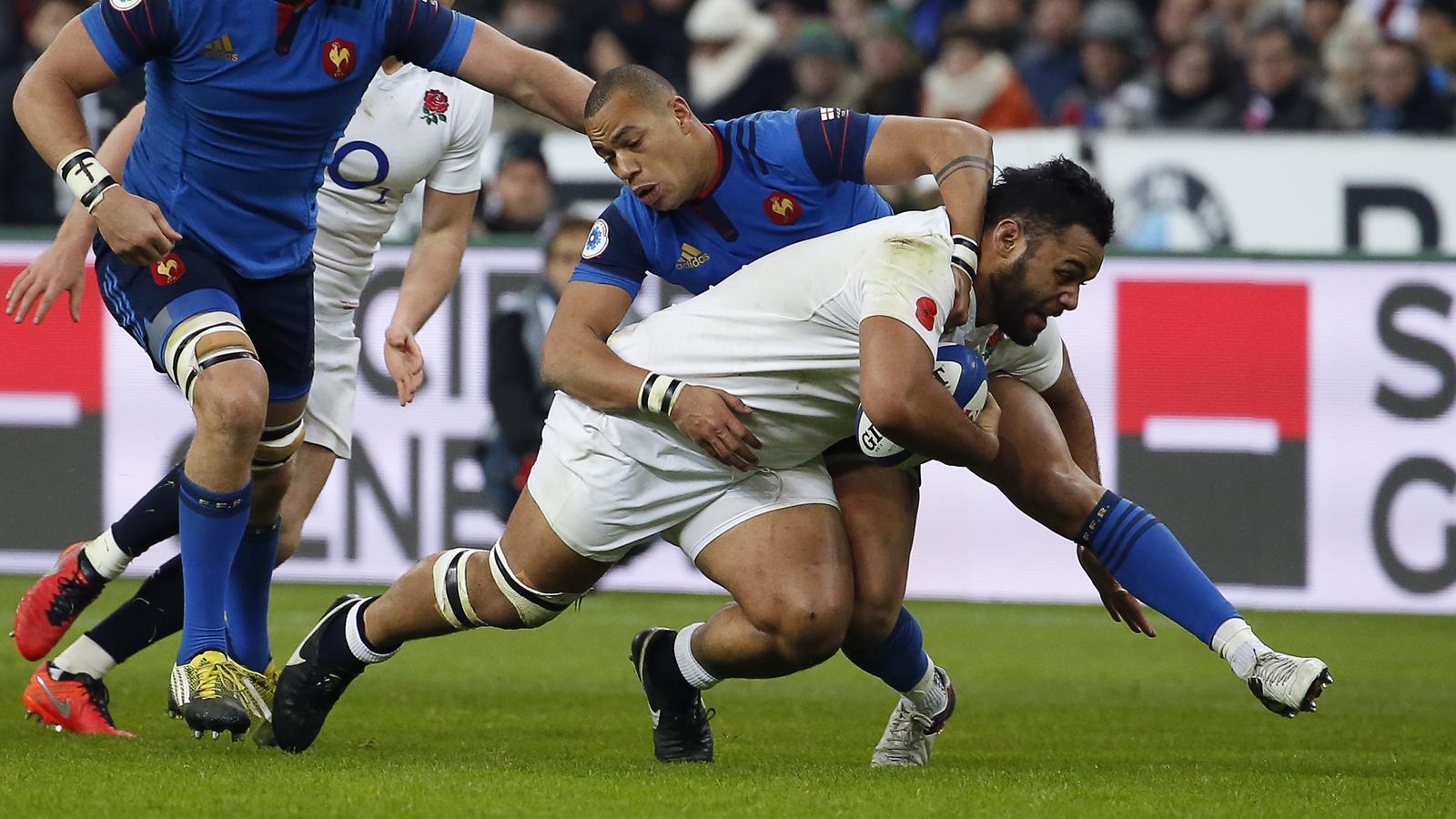 Billy Vunipola (Angleterre) face à Gaël Fickou (France) - 19 mars 2016