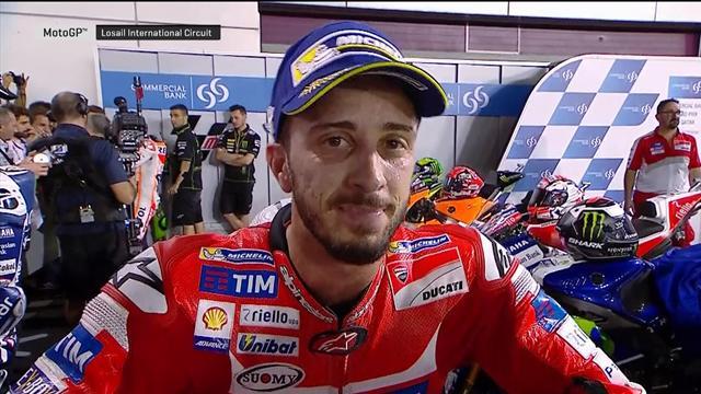 """Dovizioso : """"Je m'attendais à une attaque de Marquez dans le dernier virage"""""""