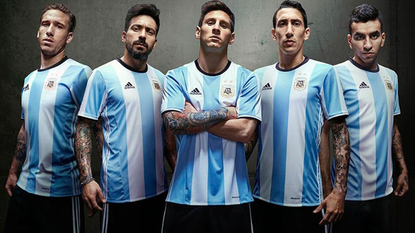 Yükle (1600x900)Argentina Reveals 2016 adidas Home Jersey -  Soccer365Argentina Reveals 2016 adidas Home Jersey. Dream League Soccer ... 301d5ee16