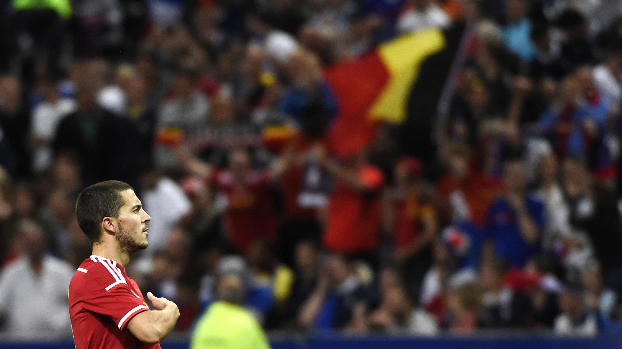 Eden Hazard avec la sélection belge en 2015