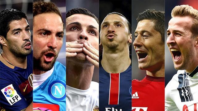 Ronaldo, Suarez, Ibrahimovic… Votez pour le meilleur buteur d'Europe