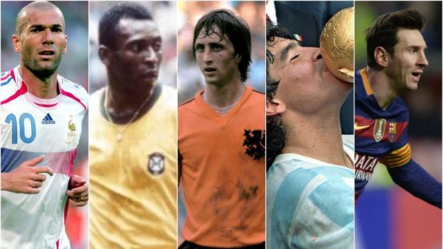 Pour vous, Johan Cruyff est devant Pelé et Messi... mais derrière Zidane