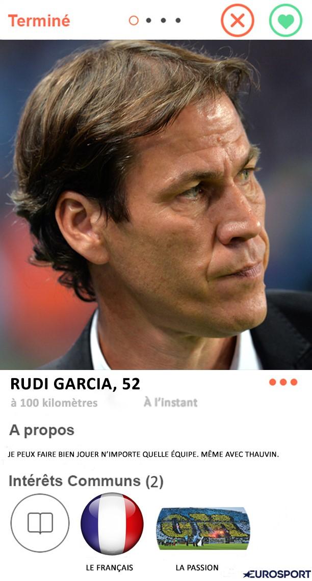 Tinder foot : Rudi Garcia à l'OM