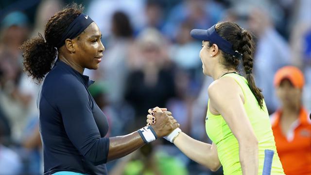 Serena se fait peur pour son entrée en lice, Garcia s'offre Petkovic