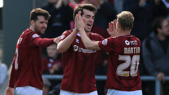 League Two round-up: Northampton edge out Newport to pull clear at the top