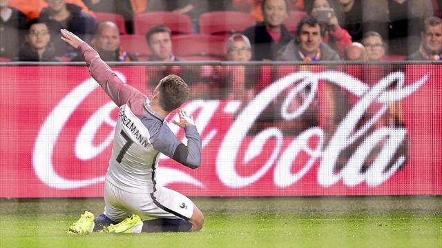 Du coup franc de Griezmann au coup de patte de Matuidi : les buts des Bleus en vidéo