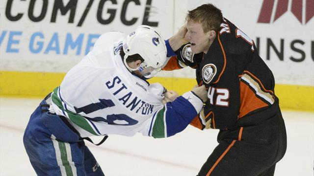 Ducks' Manson fined for throat-slash gesture - NHL Round Up