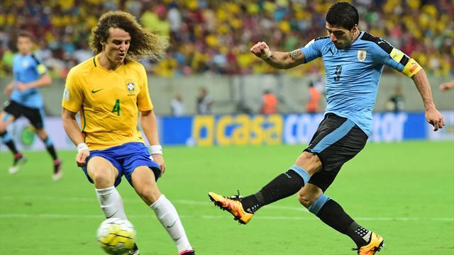 Le Brésil a mené 2-0 mais Cavani et Suarez sont passés par là
