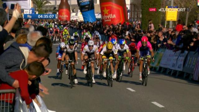 Les échappés repris à 200 mètres de l'arrivée, Cimolai remporte la 6e étape