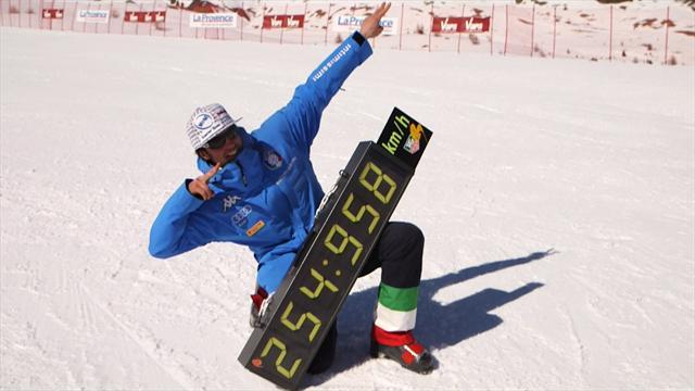 254,958 km/h : Origone a battu le record du monde de ski de vitesse