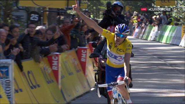 La victoire de Thibaut Pinot au sommet de l'Ospedale