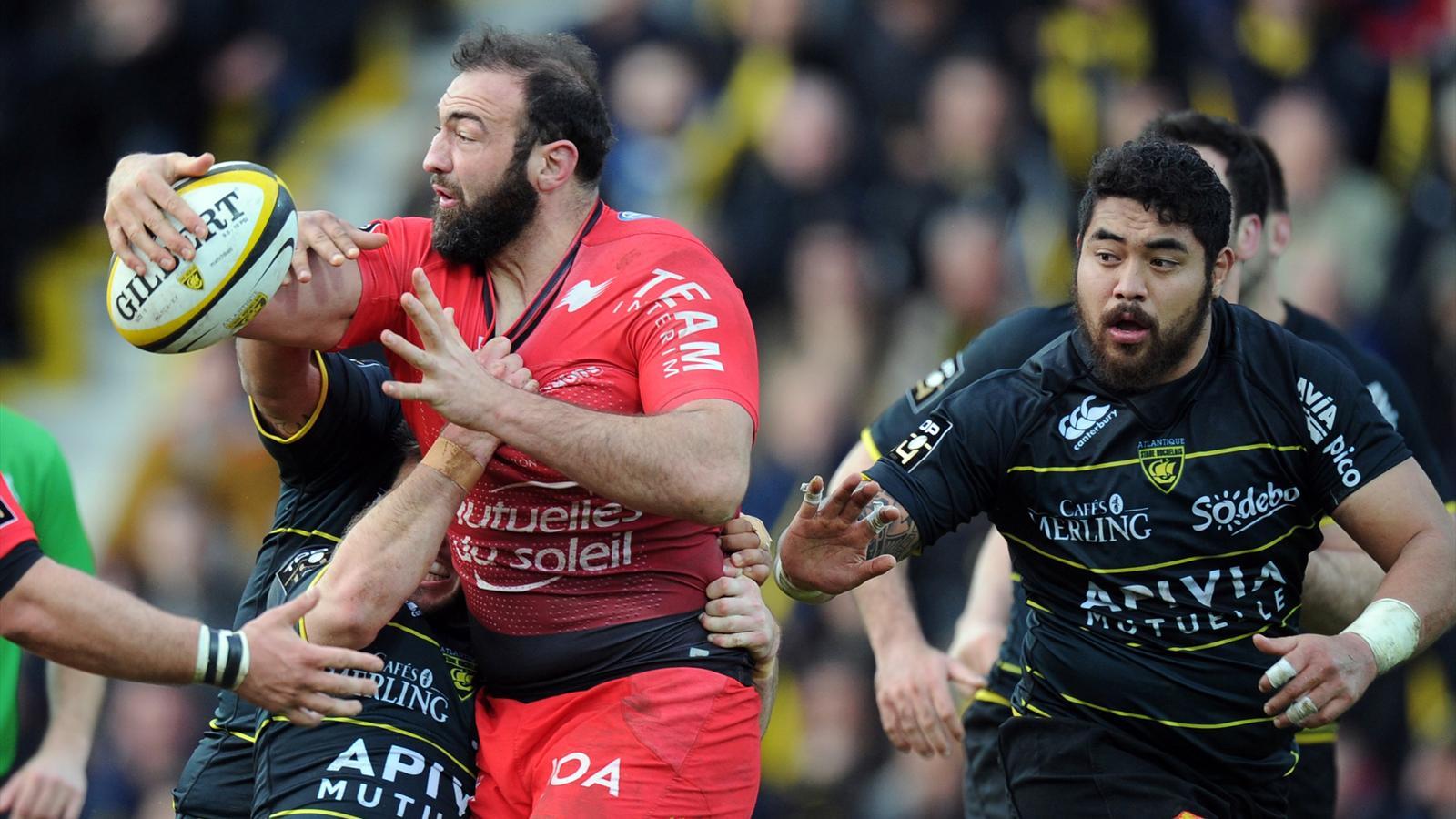 Mamuka Gorgodze (Toulon) face à La Rochelle - mars 2016
