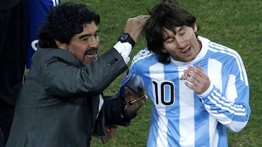 Image result for LIONEL MESSI VS DIEGO MARADONA ARGENTINA