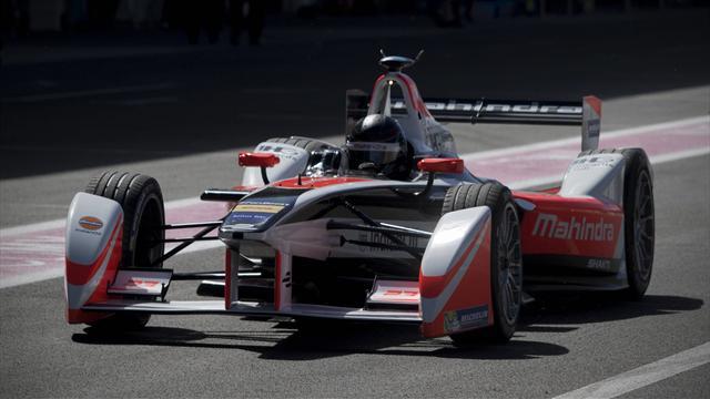 Сенна на болиде «Формулы Е» погонялся против дрона