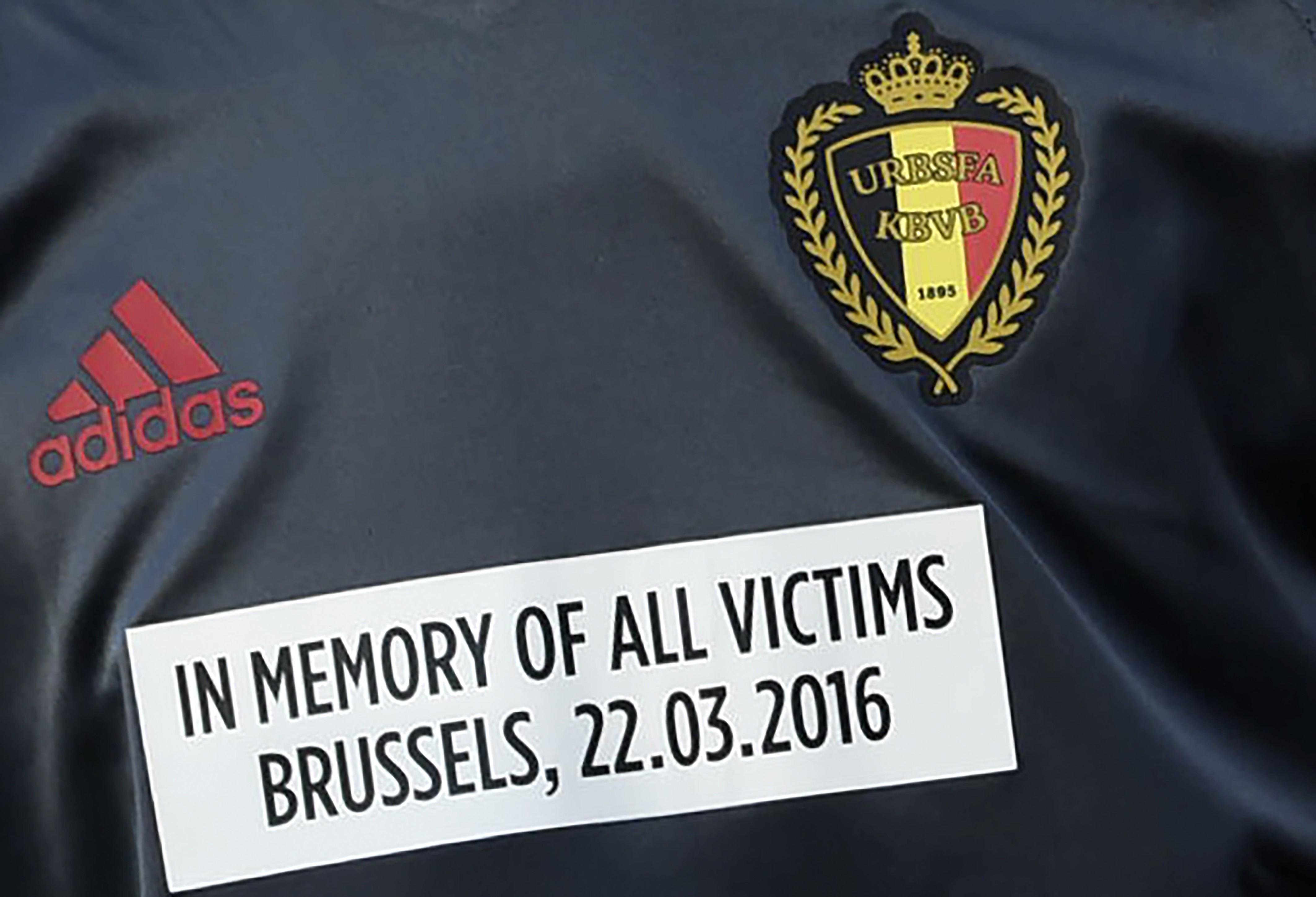 Le maillot hommage de la Belgique