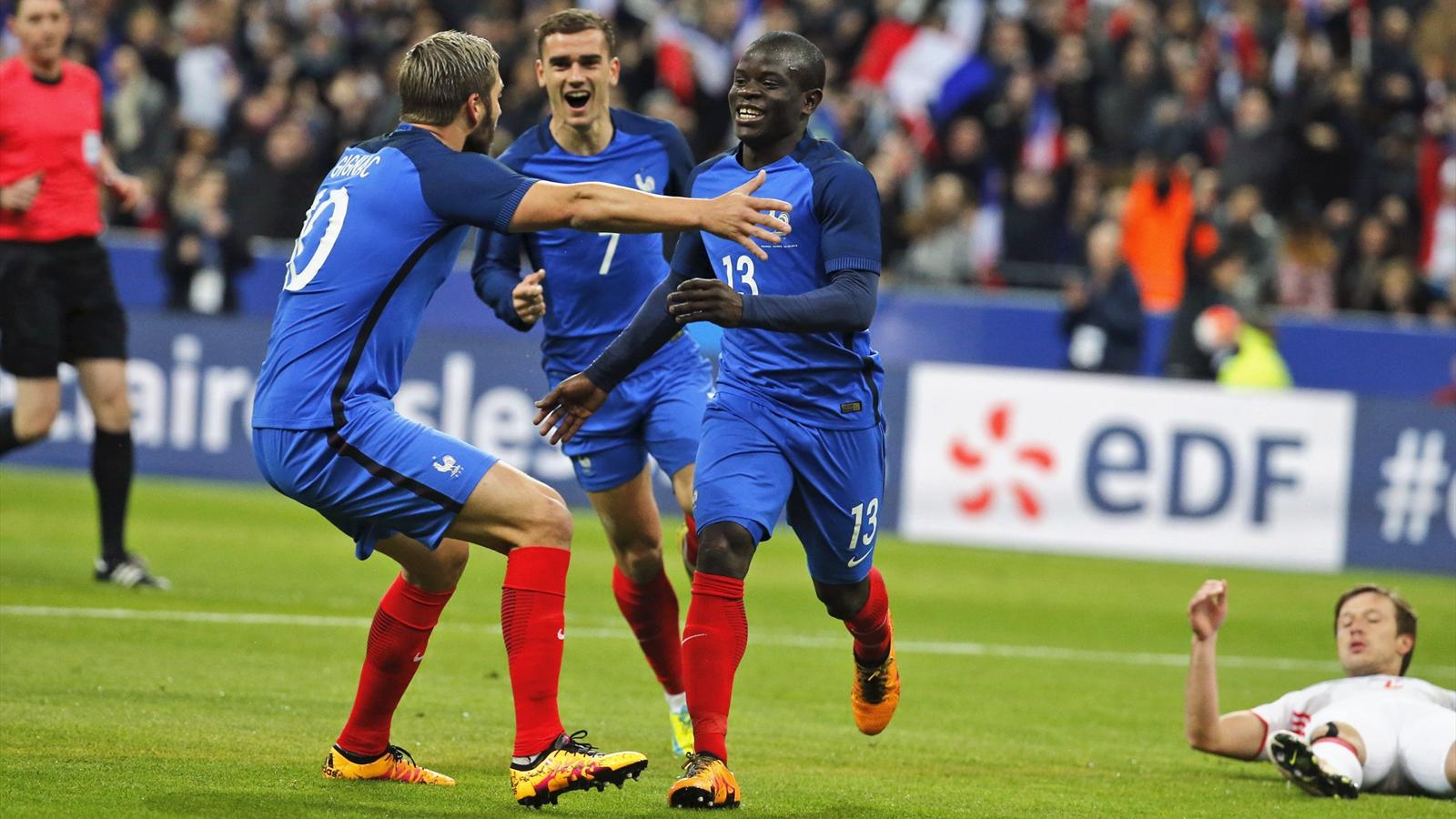 n 39 golo kante and dimitri payet score as france cruise past. Black Bedroom Furniture Sets. Home Design Ideas