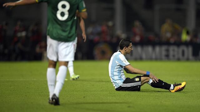 Di Maria sort sur blessure avec l'Argentine, apparemment sans gravité