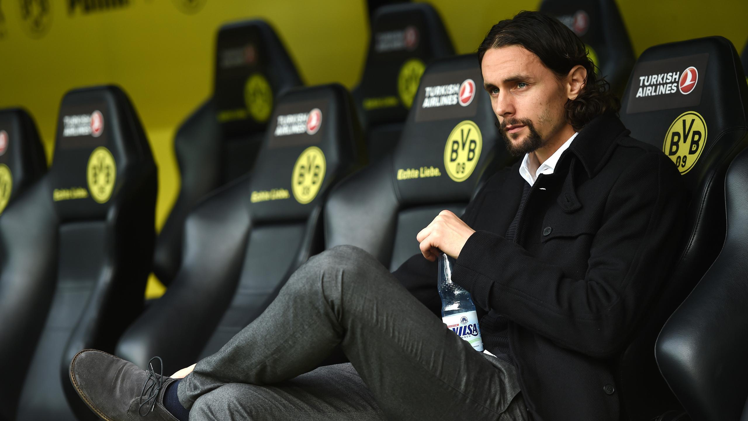 Borussia Dortmund's Serbian defender Neven Subotic looks on