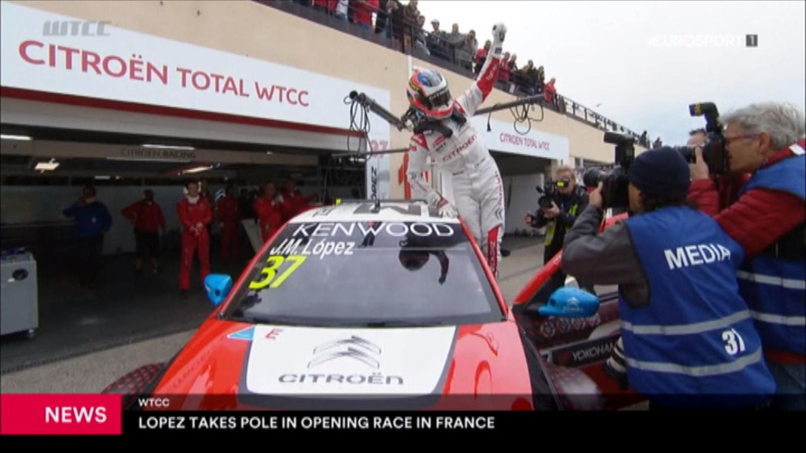 1119614fc3715 VIDEO - WTCC  Primera pole del año para  Pechito  López en Paul Ricard -  WTCC France - Video Eurosport Espana
