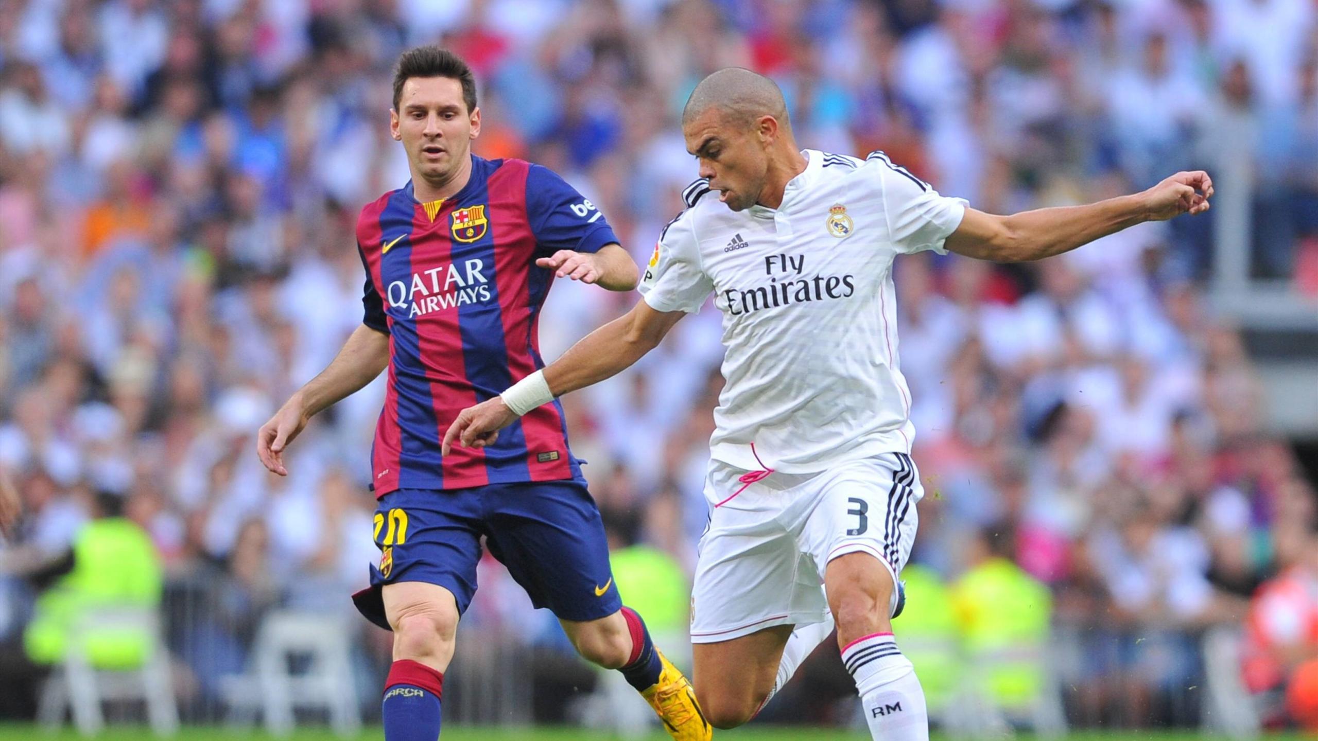 Лионель Месси («Барселона») и Пепе («Реал»)