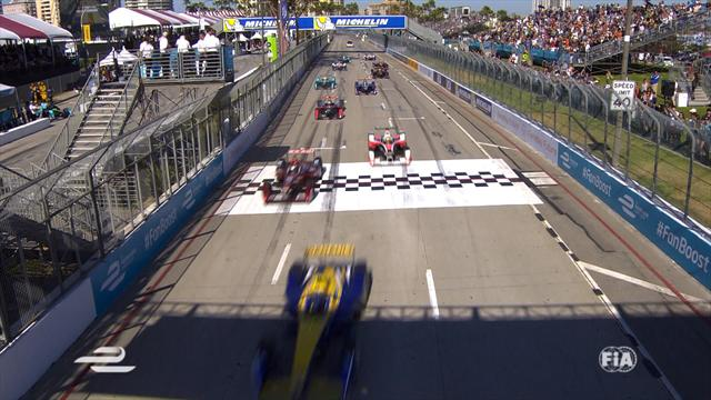 Di Grassi wins in Long Beach to get back in title race