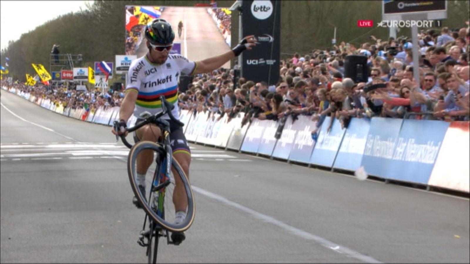 VIDÉO - A l'arrivée, Sagan a pu savourer et fêter son ...