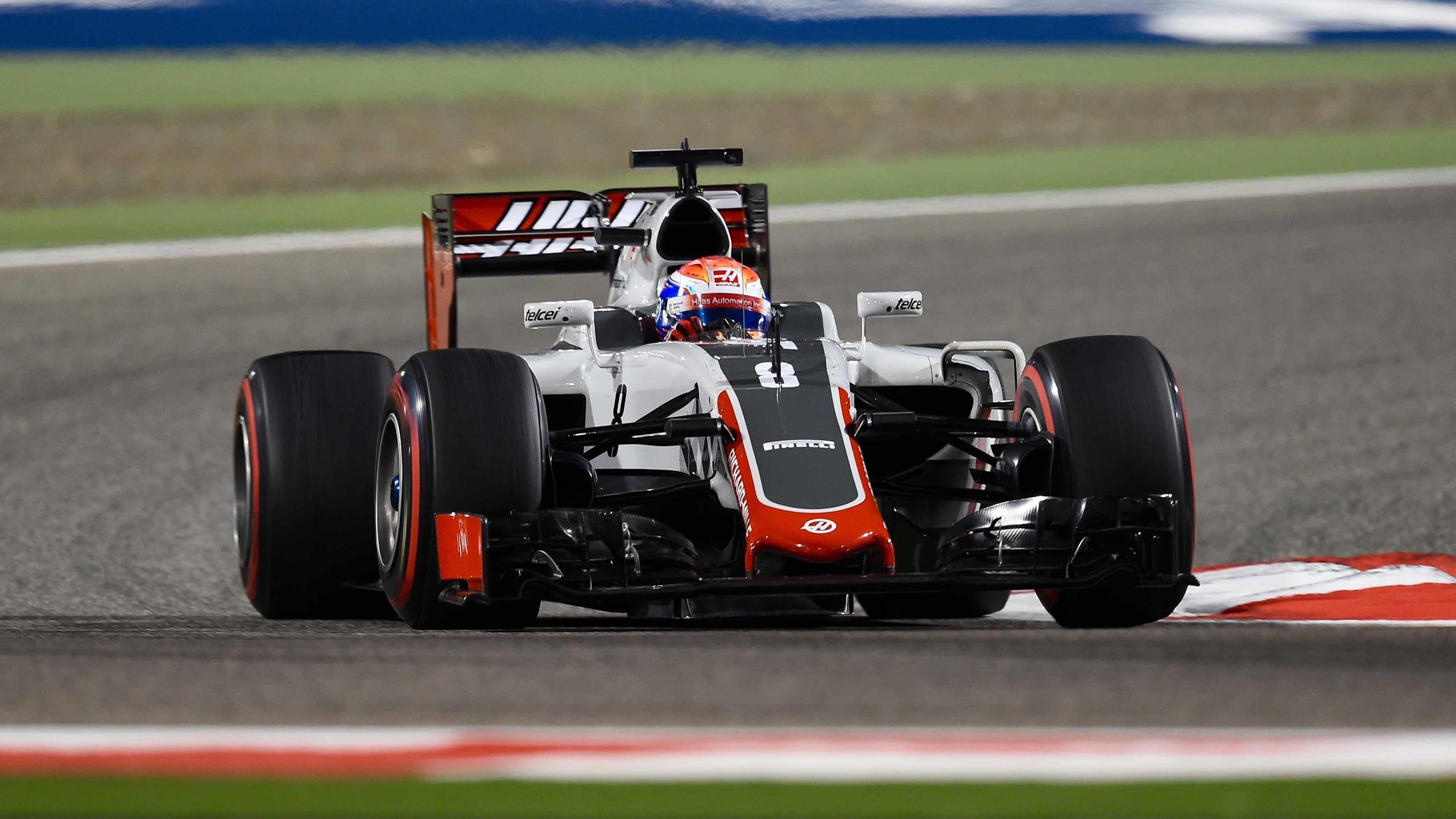 Romain Grosjean (Haas) au Grand Prix de Bahreïn 2016