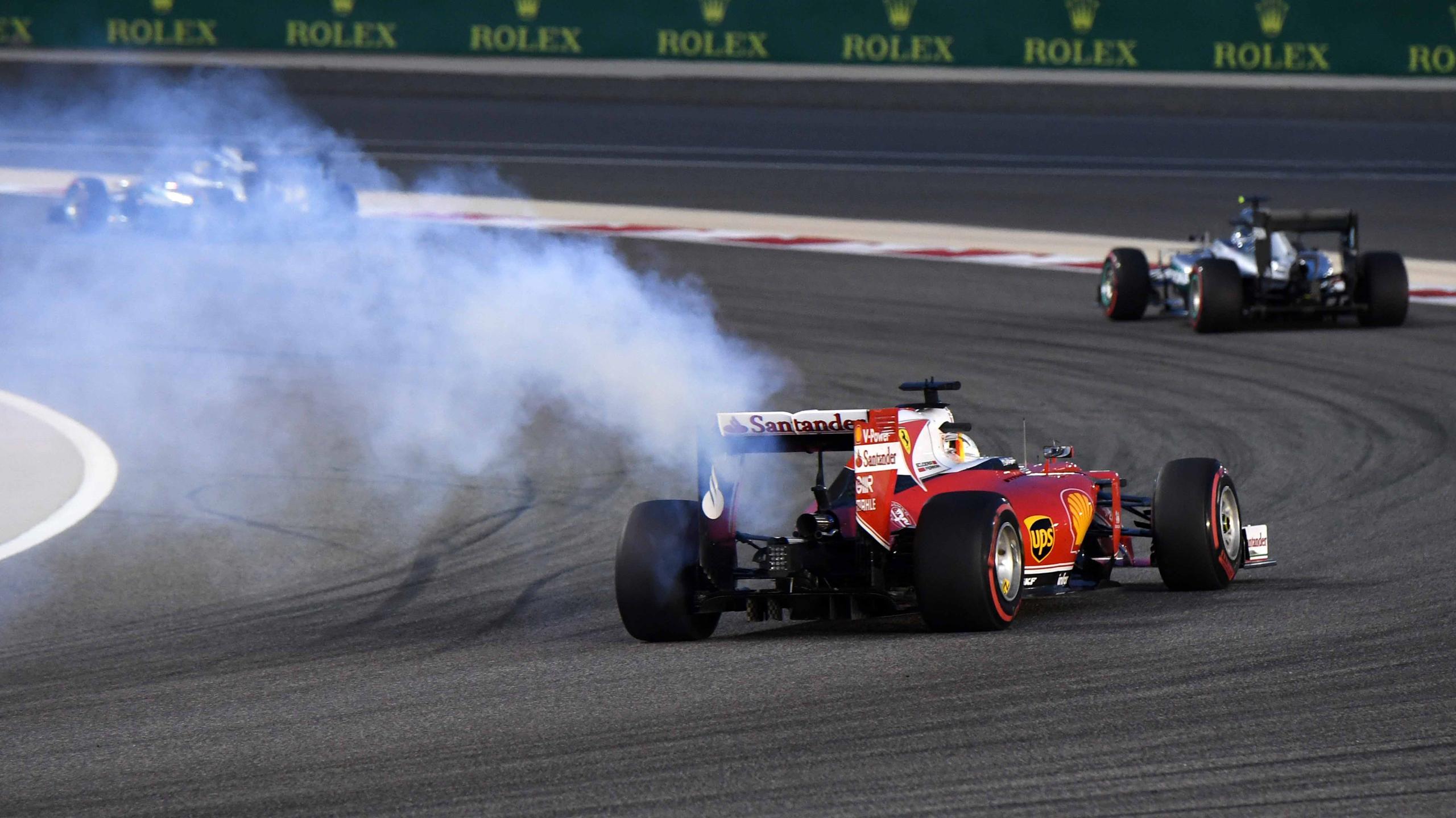 Sebastian Vettel (Ferrari) au Grand Prix de Bahreïn 2016
