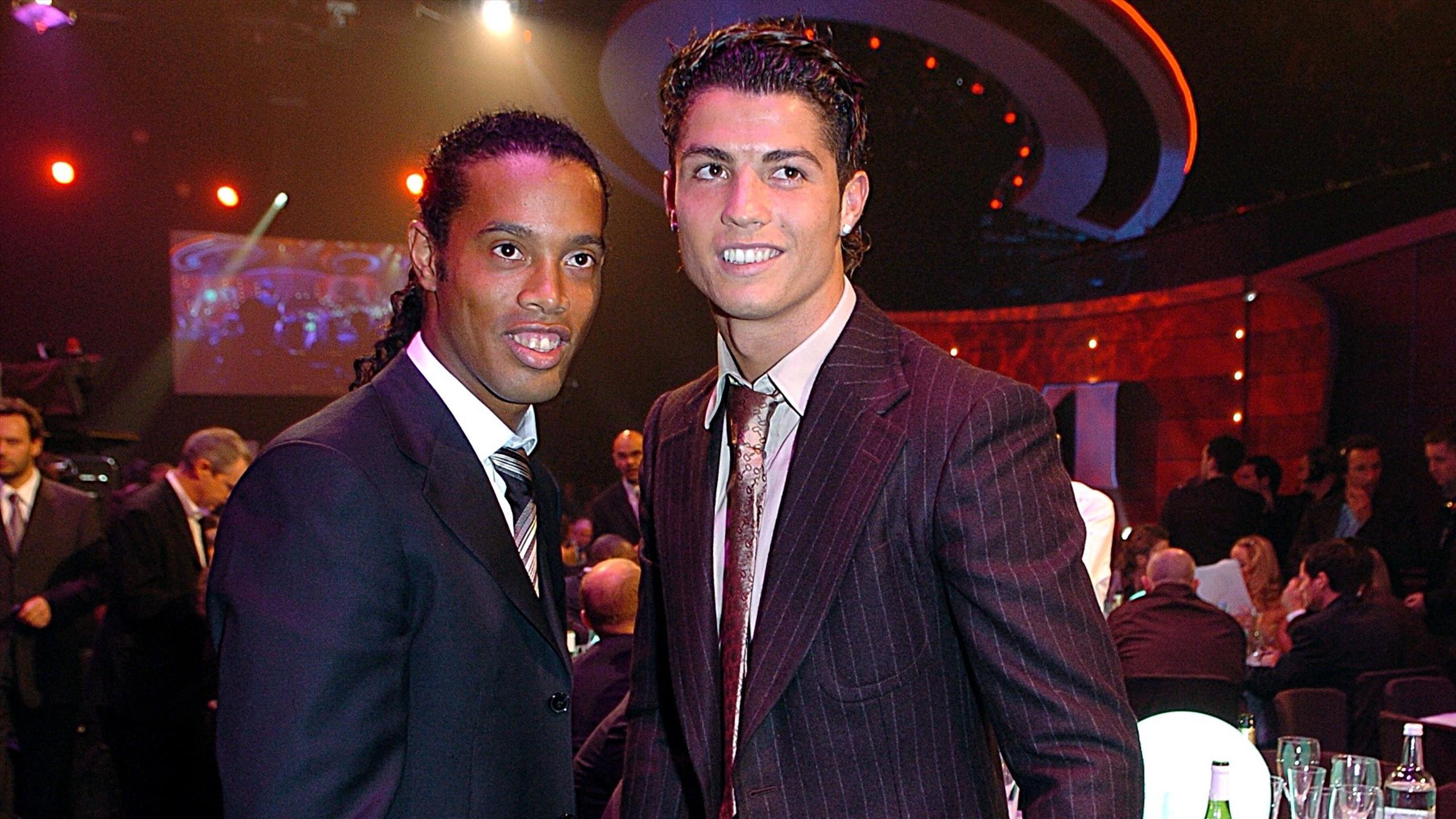 Ronaldinho and Cristiano Ronaldo