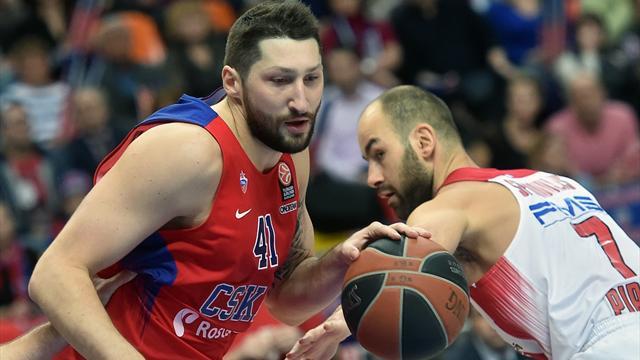 ЦСКА победил Олимпиакос и сыграет с Црвеной Звездой в четвертьфинале
