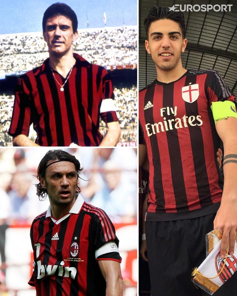 Cesare Maldini - Paolo Maldini - Christian Maldini - AC Milan captains