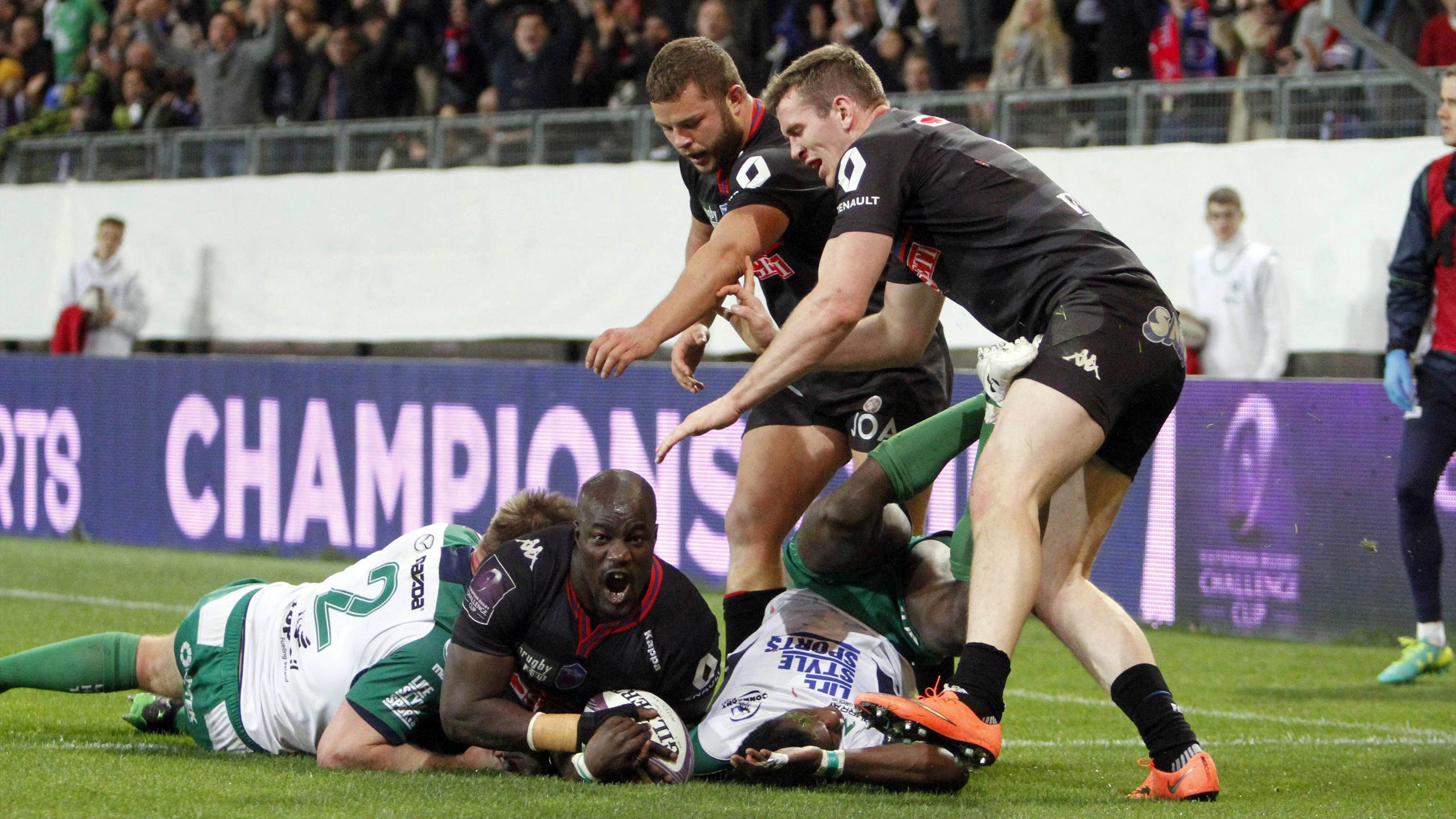 Mahamadou Diaby (Grenoble) face au Connacht - 9 avril 2016
