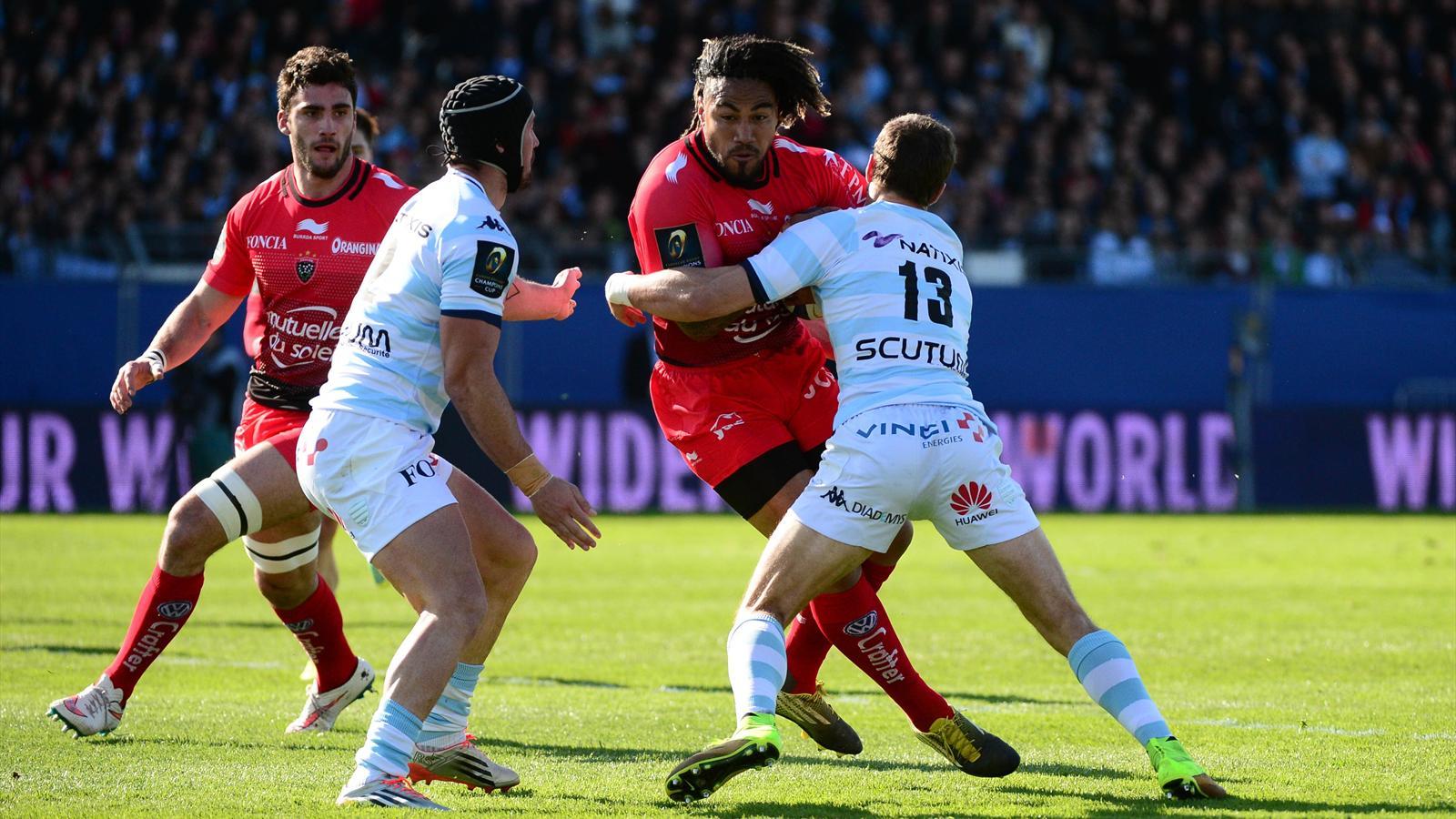 Ma'a Nonu (Toulon) face au Racing 92 - 10 avril 2016
