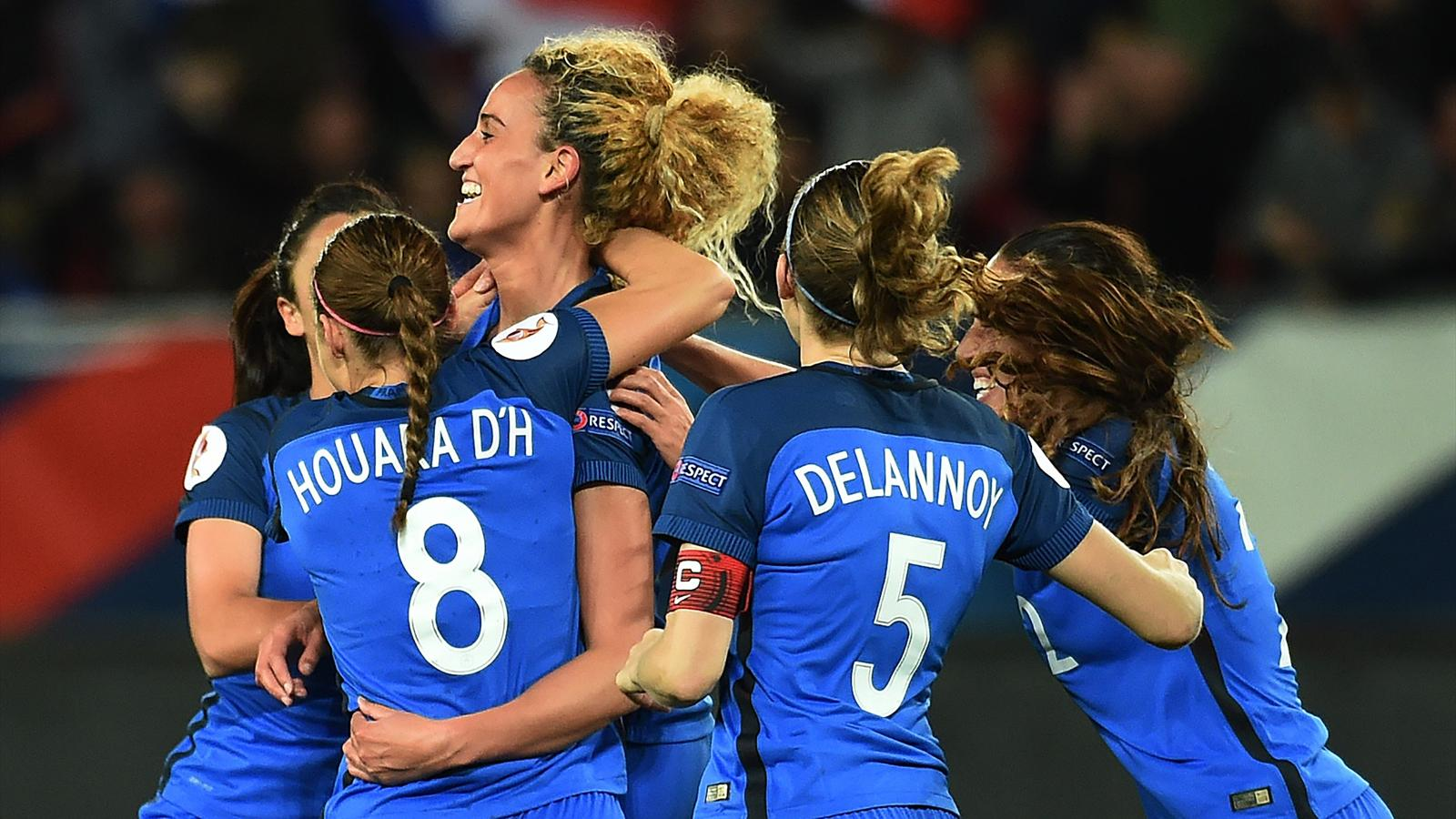 L 39 quipe de france f minine qualifi e pour l 39 euro 2017 football eurosport - Resultat match coupe de france ...