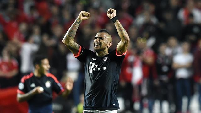 Bayern in semifinale dopo lo spavento: ancora Vidal e 2-2 col Benfica