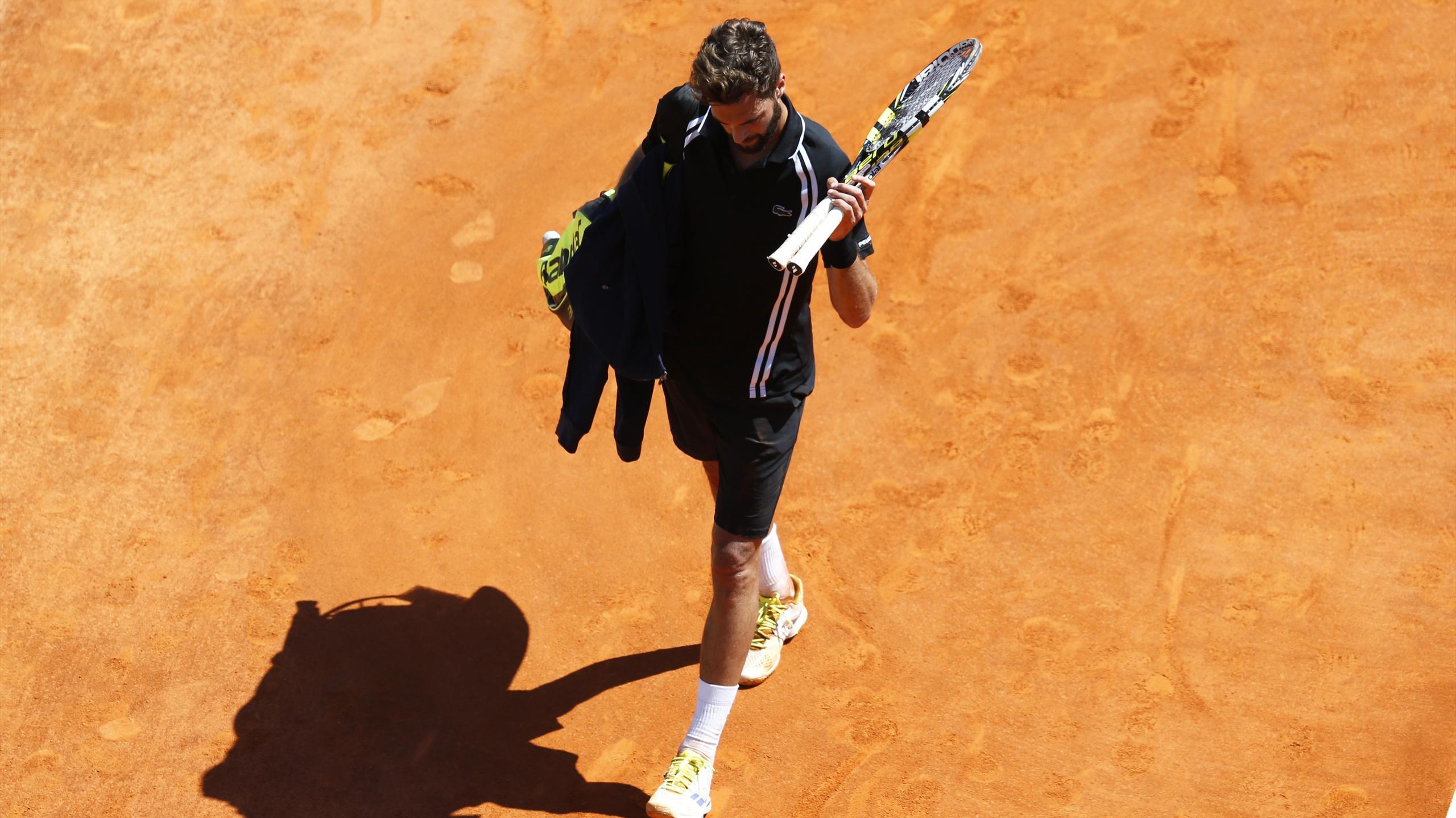 La déception de Benoît Paire, battu par Andy Murray à Monte-Carlo