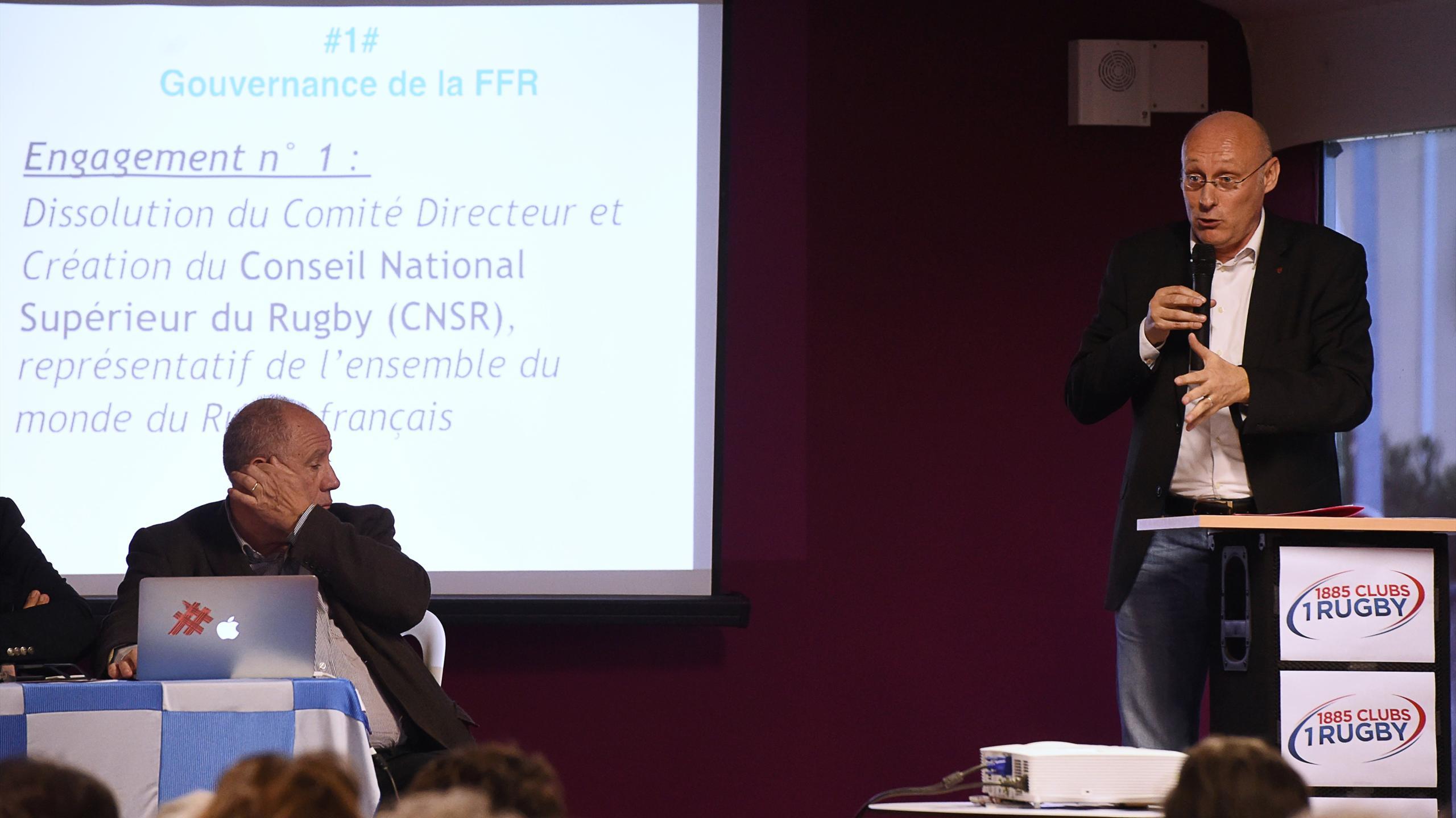 Bernard Laporte a présenté son projet s'il est élu à la tête de la FFR - 14 avril 2016
