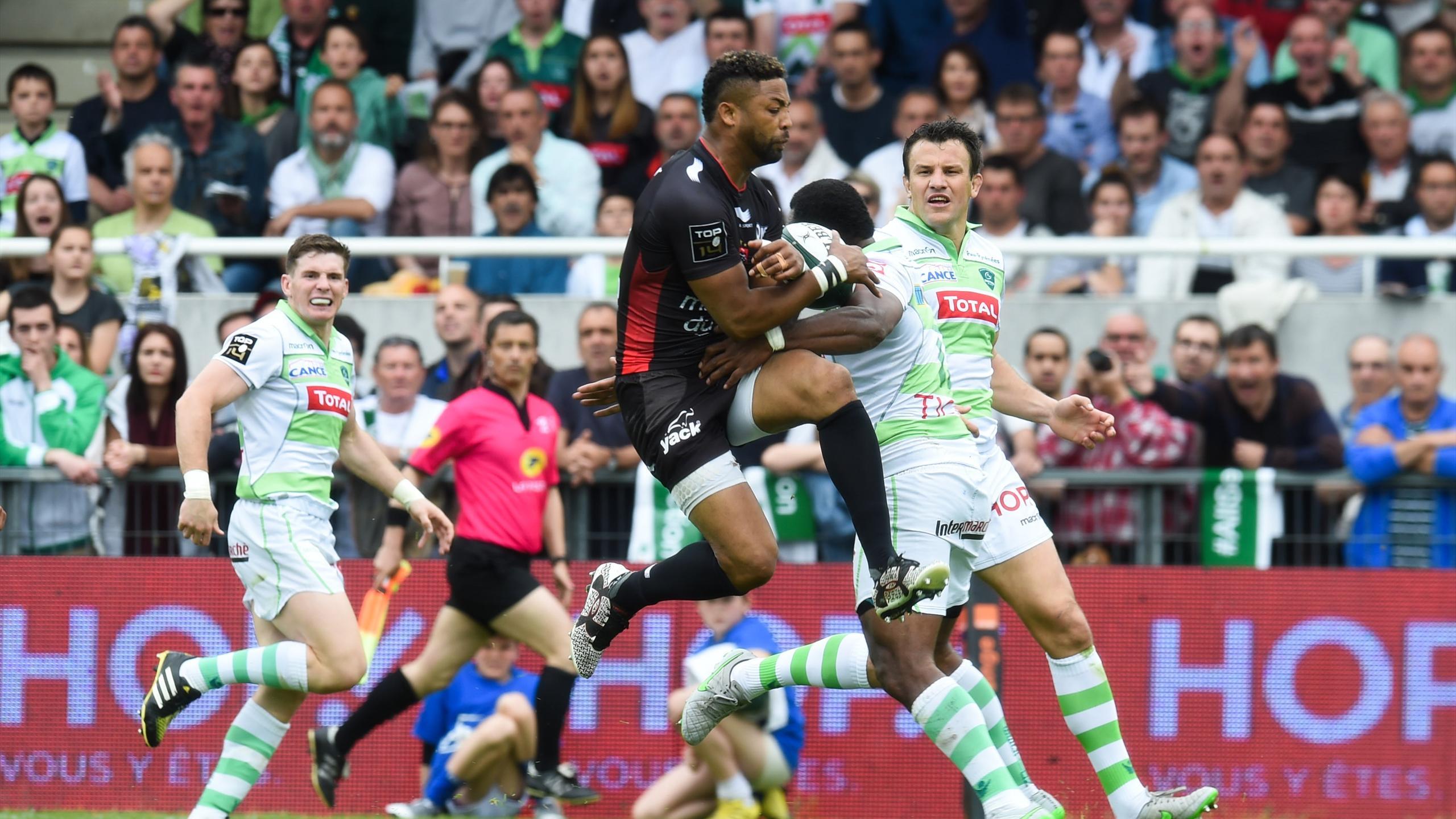 Delon Armitage (Toulon) face à Pau - 16 avril 2016