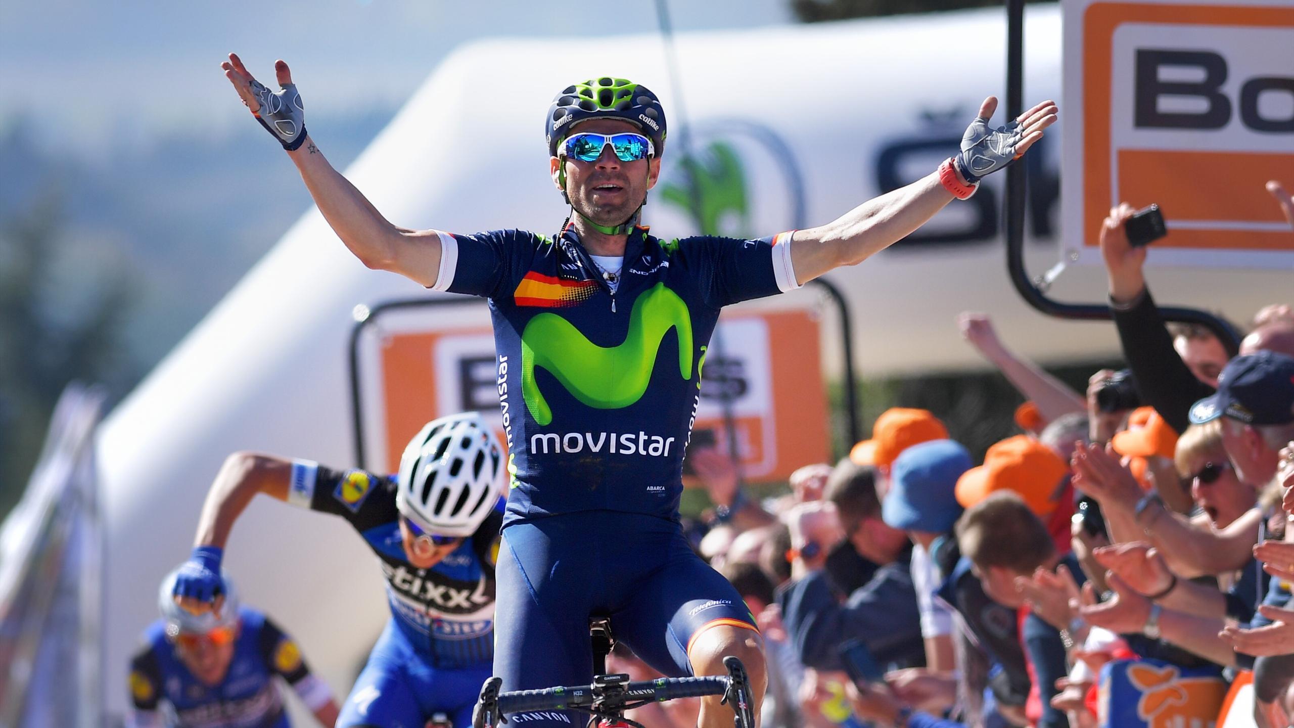 Alejandro Valverde en tête au sommet du Mur de Huy pour la 4e fois - Fleche Wallonne 2016