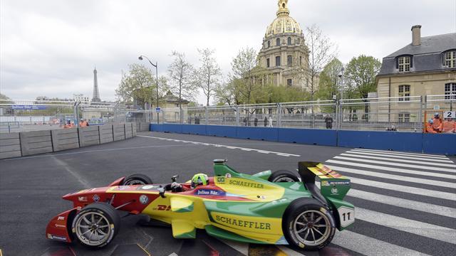 El brasileño Di Grassi, más líder al arrollar en París