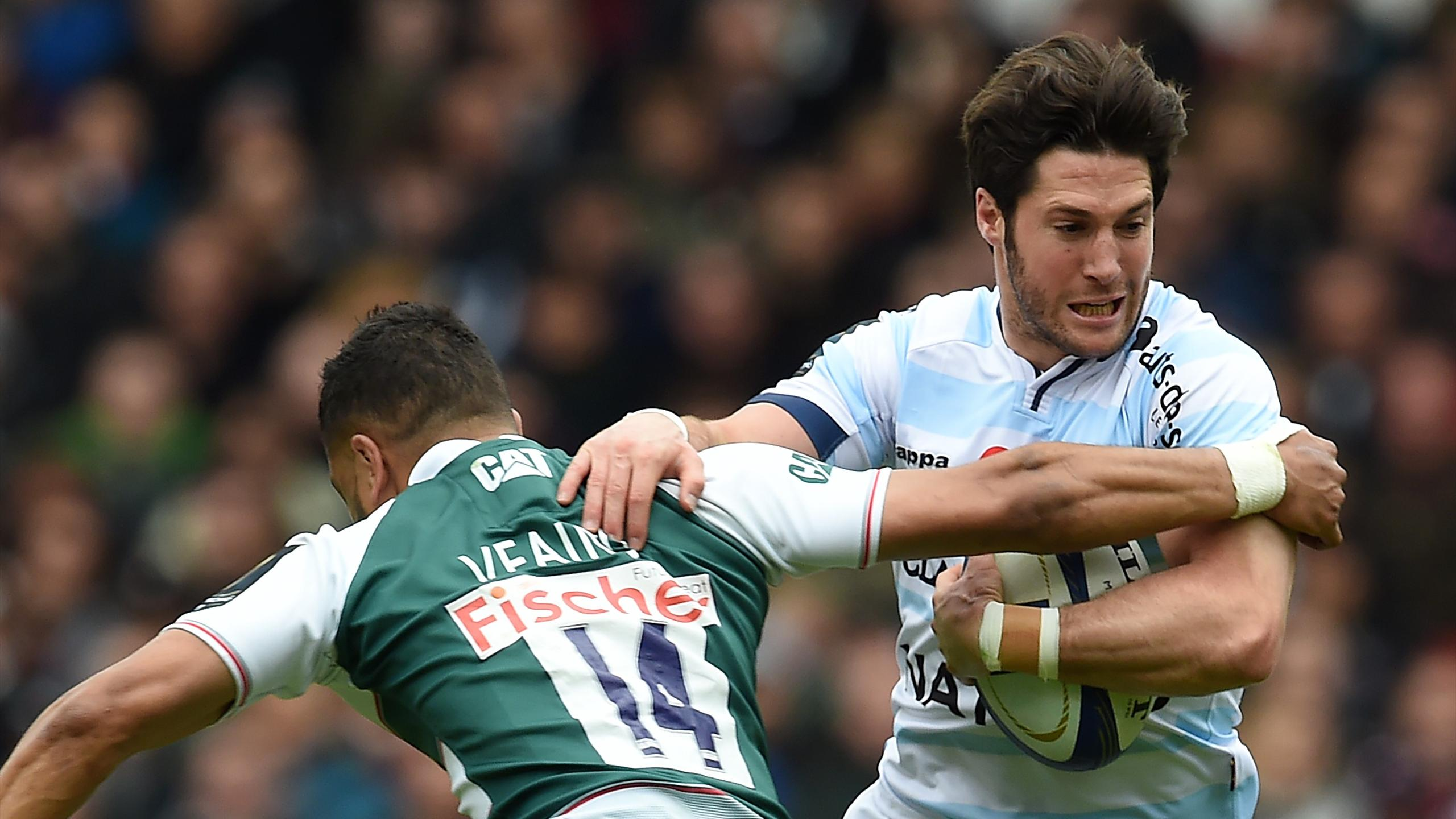 Maxime Machenaud (Racing 92) face à Leicester - 24 avril 2016