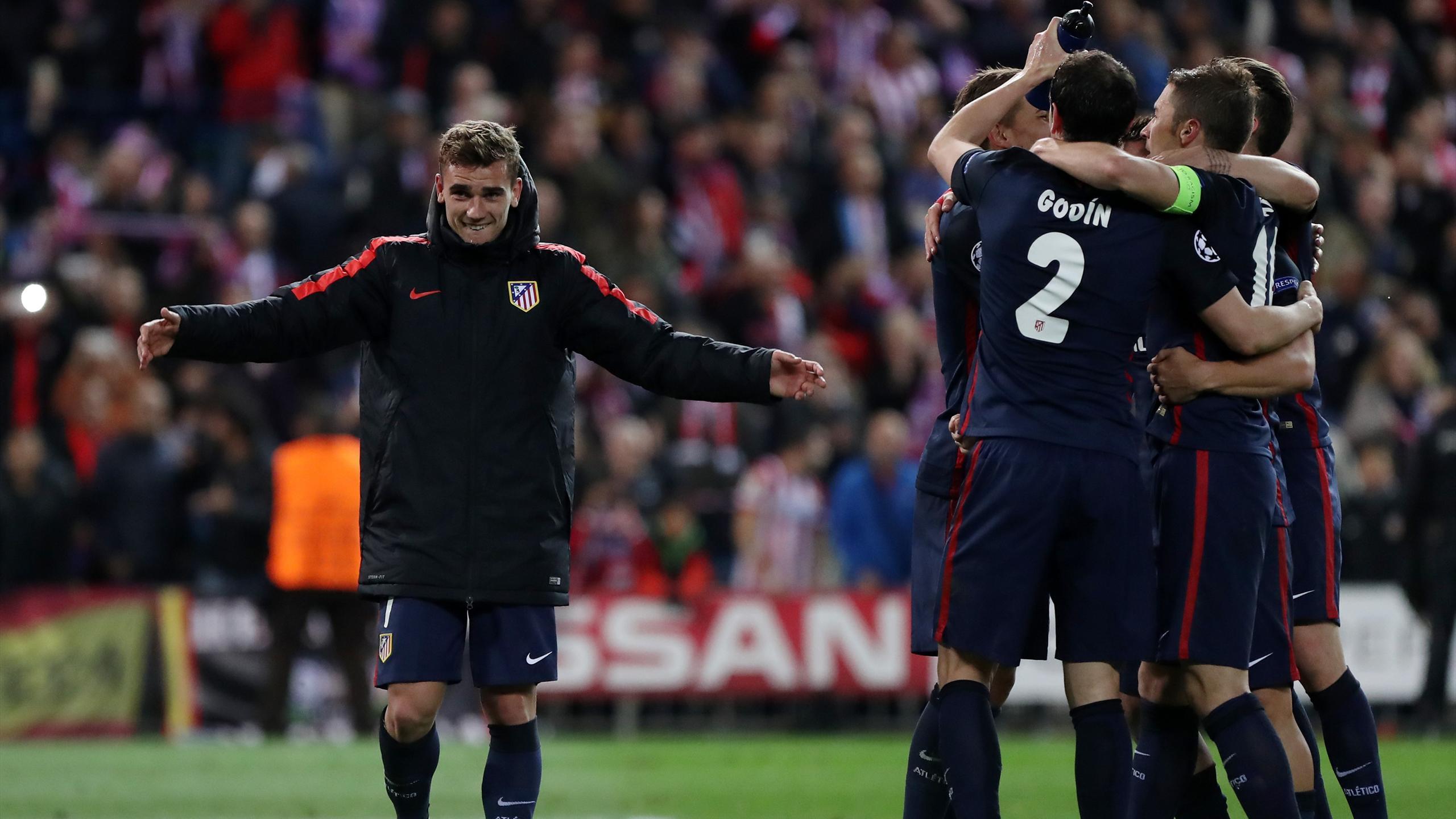 Antoine Griezmann et l'Atlético Madrid, tombeurs du Barça en Ligue des champions 2015/2016