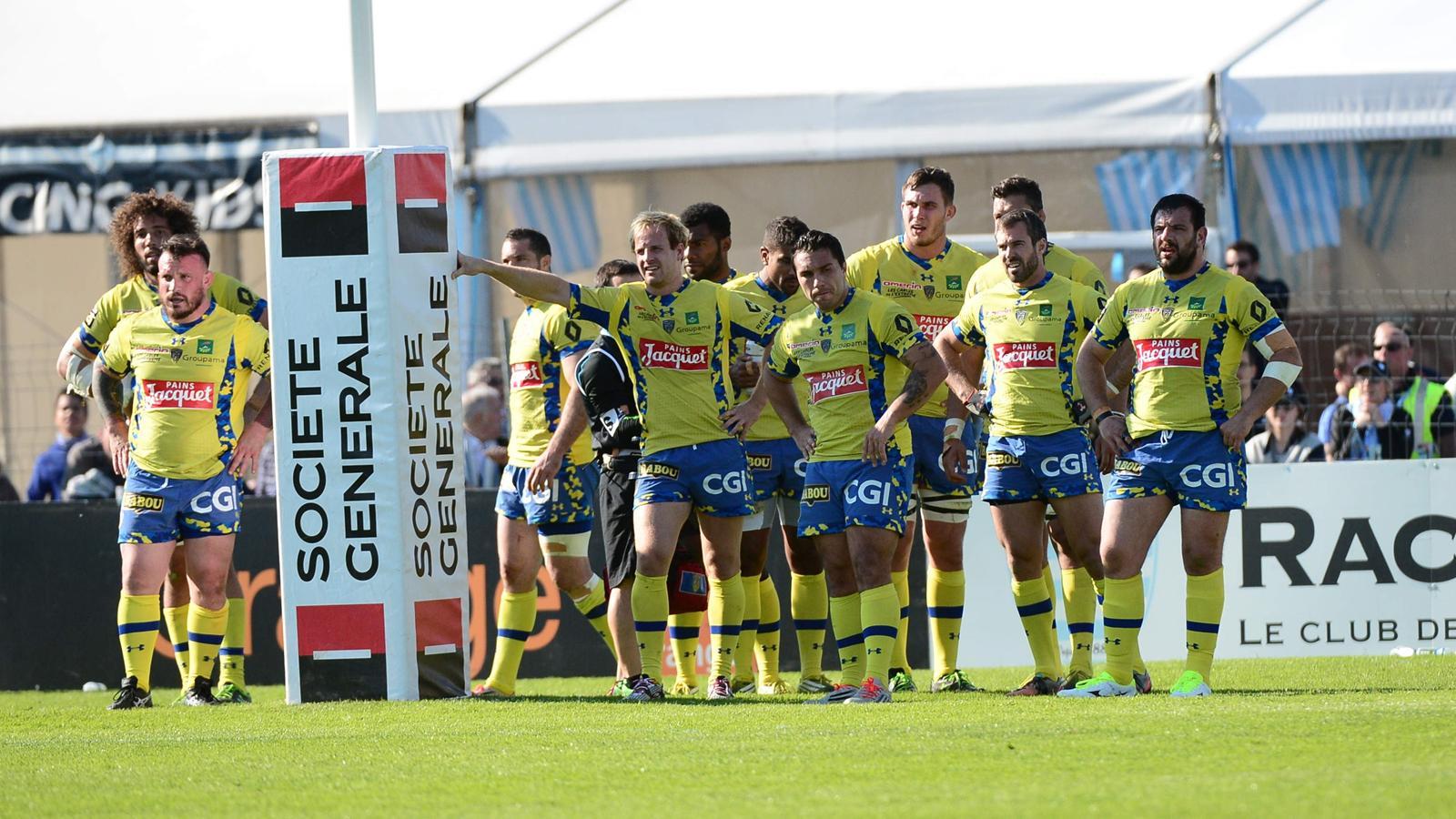 La déception des joueurs de l'ASM Clermont - 1er mai 2016
