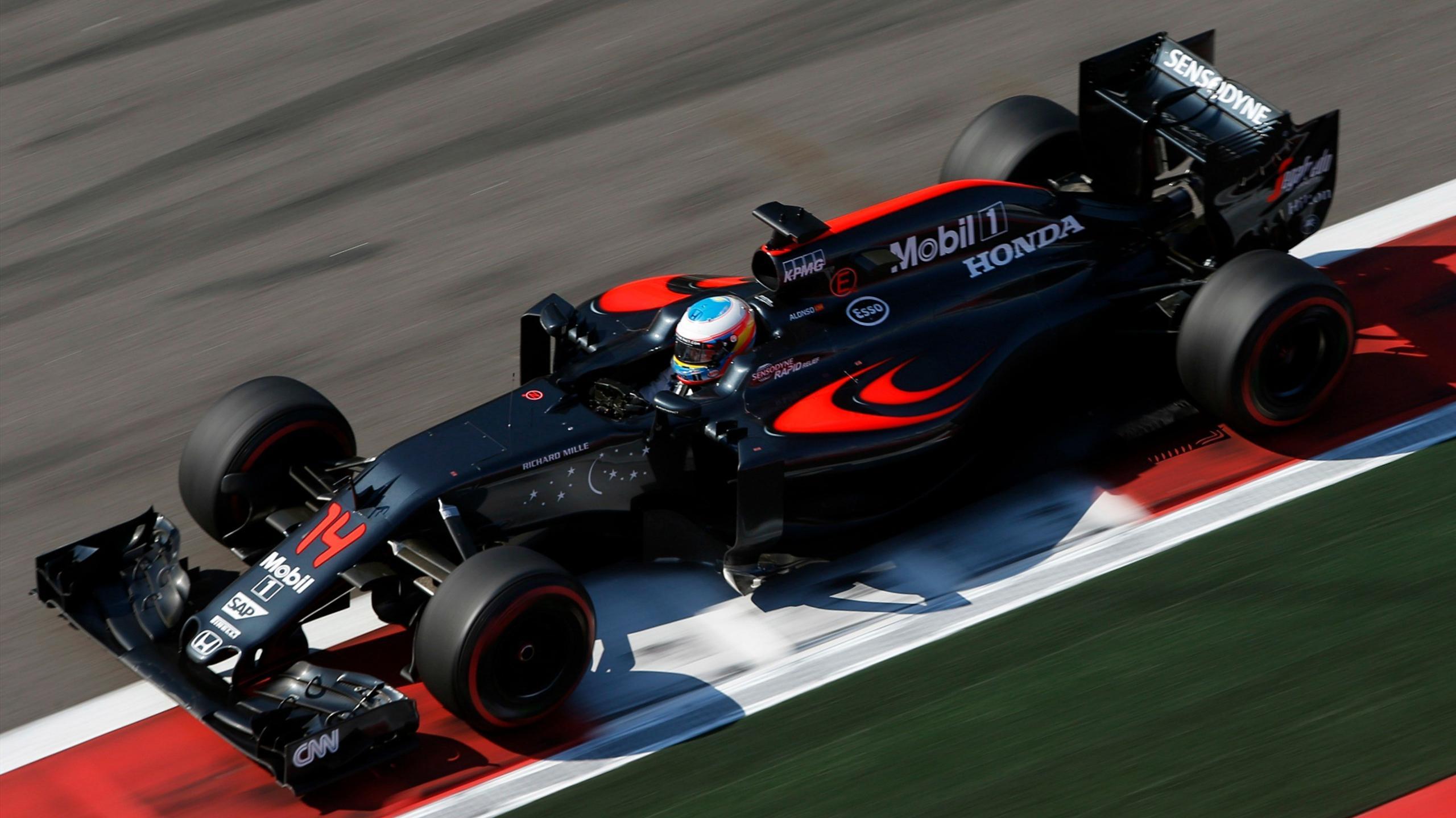 Fernando Alonso (McLaren) au Grand Prix de Russie 2016
