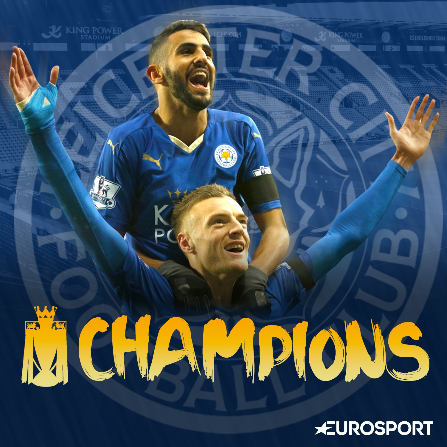 Leicester champion d'Angleterre