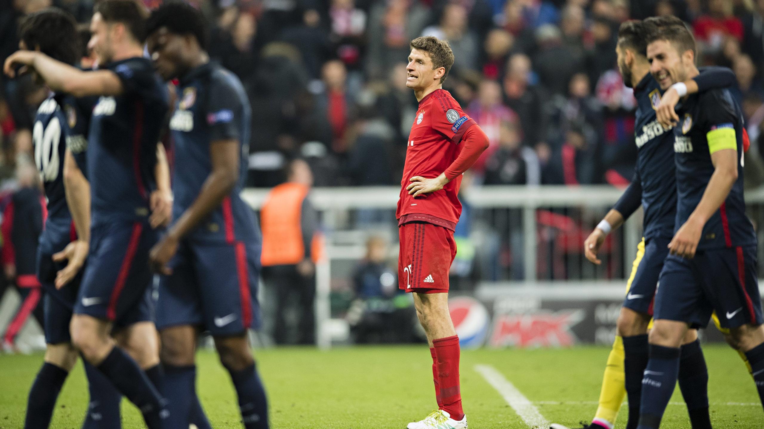 Thomas Müller (Bayern) dépité après l'élimination face à l'Atlético
